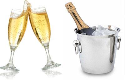 Champagne ed il lago di como